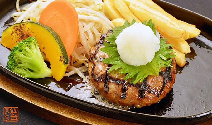 最高級A5ランク仙台牛プレミアムハンバーグステーキおろしそソース