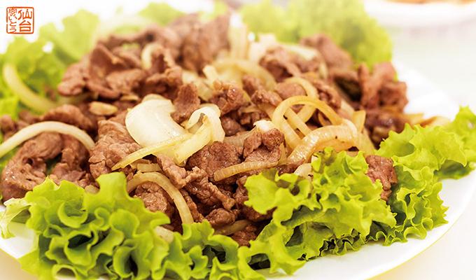 仙台黒毛和牛の冷しゃぶサラダ